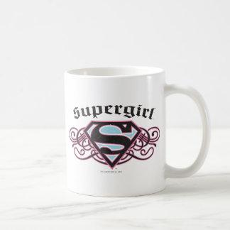 El Pin de Supergirl pela negro y rosa Taza
