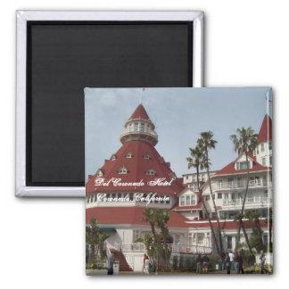 El Pin del cuadrado del hotel de Del Coronado Imán Cuadrado