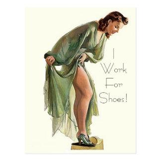 El Pin-para arriba retro del vintage me calza trab Postal