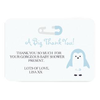 El pingüino de los azules cielos le agradece invitación 8,9 x 12,7 cm
