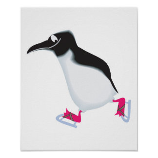 el pingüino torpe encendido iceskates poster