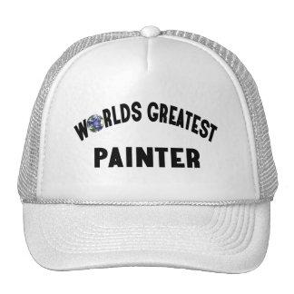 El pintor más grande de los mundos gorros bordados