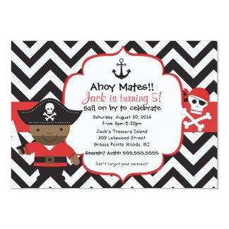 El pirata embroma la invitación de la fiesta de invitación 12,7 x 17,8 cm