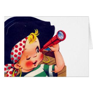 El pirata más pequeño tarjeta de felicitación