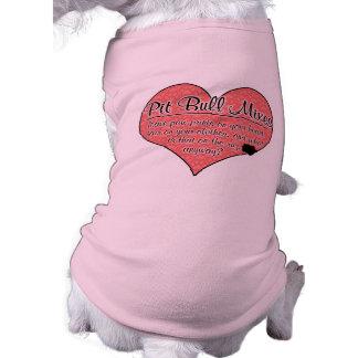 El pitbull mezcla humor del perro de las impresion camisas de perritos