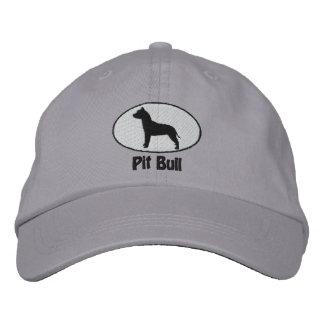 El pitbull Terrier americano oval bordó el gorra