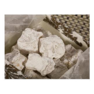El placer turco (locum) es un caramelo dulce de postal