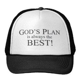 El plan de dios es el mejor plan gorras