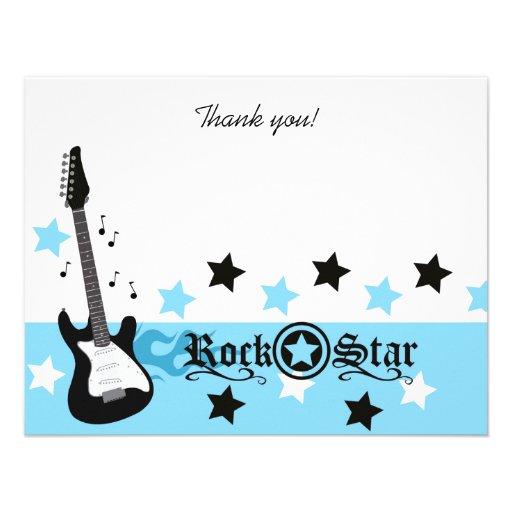 El plano azul de la estrella del rock 4x5 del eje  invitacion personal