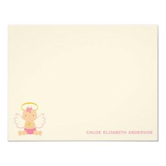 El plano de encargo del bebé dulce le agradece las invitación 10,8 x 13,9 cm