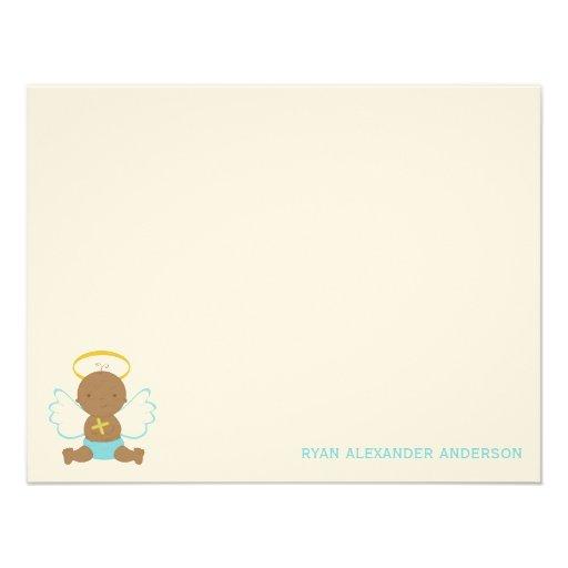 El plano de encargo del bebé dulce le agradece las invitación personalizada
