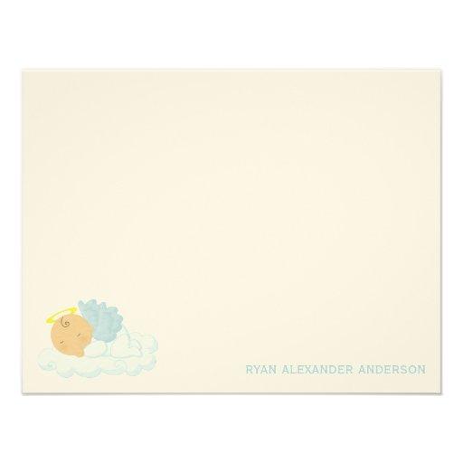 El plano de encargo del bebé le agradece las notas comunicados personalizados
