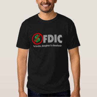 El plano de FDIC rompió a la hija es animadora Camiseta