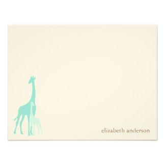 El plano de la jirafa de la mamá y del bebé le agr anuncios