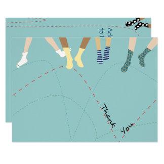 El plano del fiesta de la despedida le agradece invitación 8,9 x 12,7 cm