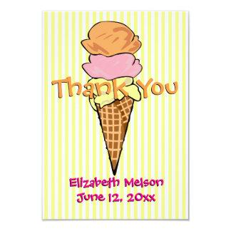 El plano dulce del helado le agradece invitación 8,9 x 12,7 cm
