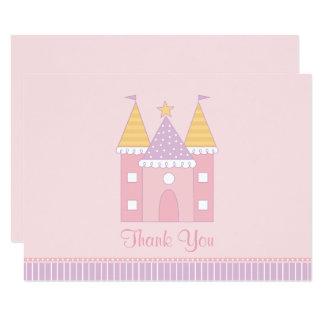 El plano le agradece princesa Castle de la tarjeta Invitación 8,9 X 12,7 Cm