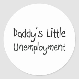 El poco desempleo del papá etiquetas redondas