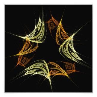 El poder de la impresión de la foto del arte abstr