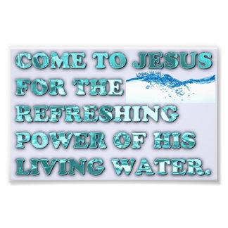 El poder de restauración del agua viva de Jesús Arte Con Fotos