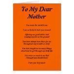 El poema de la madre tarjetón