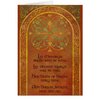 El poema de Mhoren Tarjeta De Felicitación