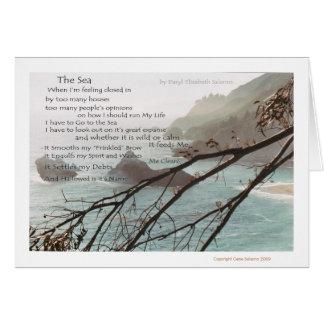 El poema del mar tarjeta de felicitación