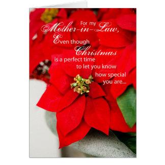 El Poinsettia de la suegra sazona saludos Tarjeta De Felicitación