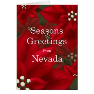 El Poinsettia de Nevada sazona navidad de los salu Felicitaciones