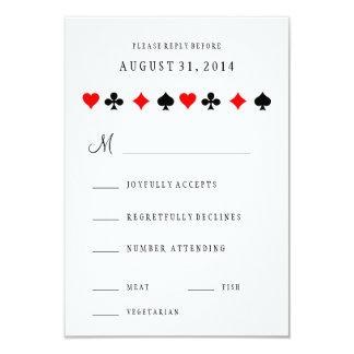 El póker del casino de Las Vegas carda casar la Invitación 8,9 X 12,7 Cm