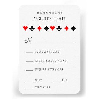 El póker del casino de Las Vegas carda casar la Invitaciones Personales