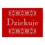 El polaco le agradece tarjeta de nota del saludo D