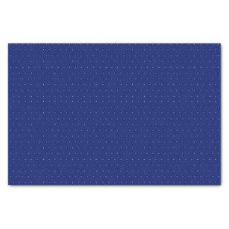 El polca azul puntea - el papel seda 10lb, blanco