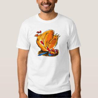 el pollo de la caricatura del huevo de Pascua Camiseta