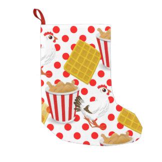 el pollo waffles almacenamiento del navidad de calcetín de navidad pequeño