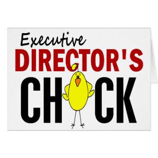 El polluelo del director ejecutivo tarjeta de felicitación