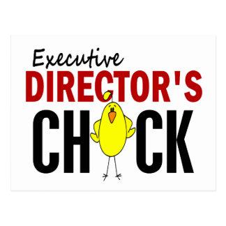 El polluelo del director ejecutivo tarjetas postales
