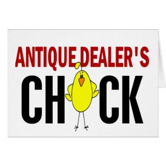 El polluelo del distribuidor autorizado antiguo tarjeta