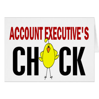El polluelo del ejecutivo de cuenta felicitación