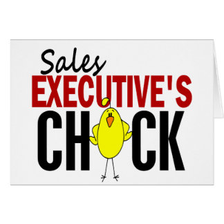 El polluelo del ejecutivo de ventas tarjeton