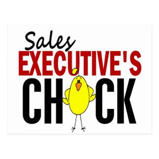 El polluelo del ejecutivo de ventas postal