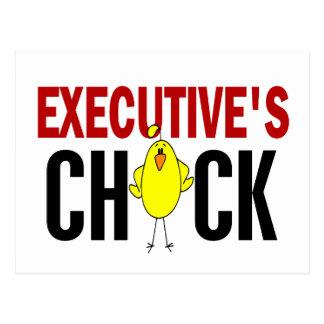 El polluelo del ejecutivo postales