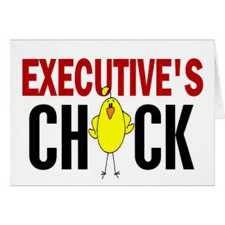 El polluelo del ejecutivo felicitación
