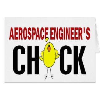 El polluelo del ingeniero aeroespacial tarjeta de felicitación