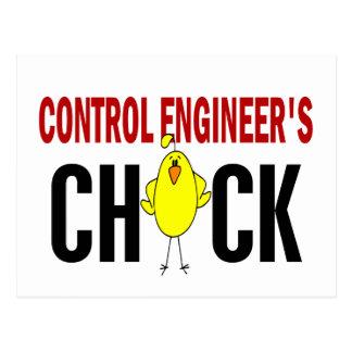 El polluelo del ingeniero de control postal