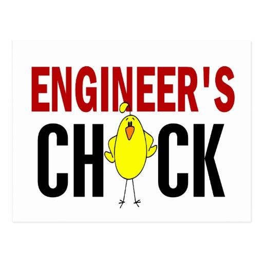 El polluelo del ingeniero tarjetas postales