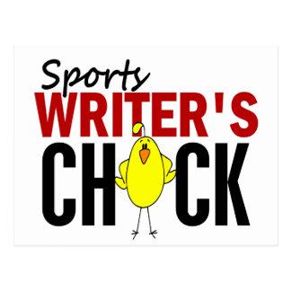 El polluelo del periodista deportivo postal