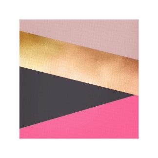el polluelo elegante subió el bloque gris rosado lienzo