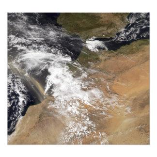 El polvo plumes de la costa marroquí foto