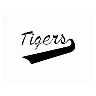 El poner letras de los tigres postal